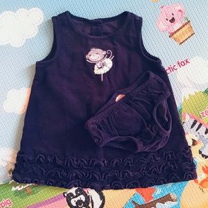 🆕 4/$20 Gymboree | purple corduroy dress 3-6M
